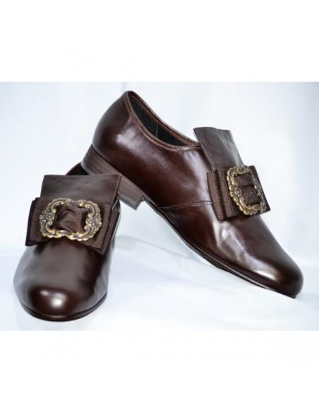 Zapato Felipe II piel sintética marrón