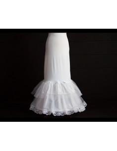 Cancan de novia para vestido sirena doble volante