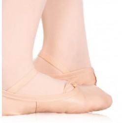 Zapatilla media punta piel