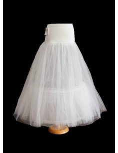 Cancan de novia para vestido evasé 2 tules